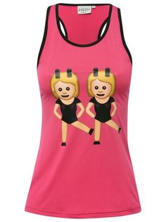 Emoji work it vest top