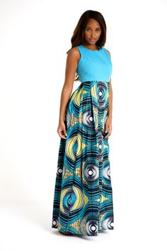 African print Maxi Dress by Bongolicious1 on Etsy