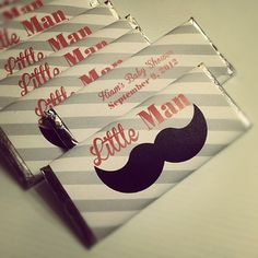 Mustache Little Man Printable Candy Bar Wraps by bisonbleu on Etsy, $5.00