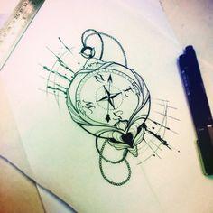 tattoo bussola com asas - Pesquisa Google