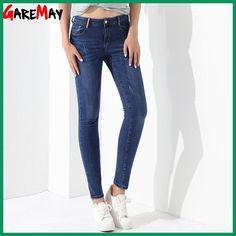Jeans Woman Skinny Beautiful Jeans For Women Plus Size Denim Trousers Pantalones Vaqueros Mujer Stretch Pants Ladies GAREMAY