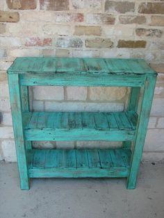 palette étagère bleue idée bois meuble bricolage recyclage pas cher