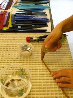 Making Fused Glass Cabochons step by step tutorial foe stacked pendants