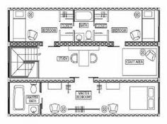 40 ft shipping container home plans - Google Search