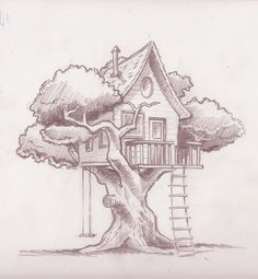 tree house drawing - Buscar con Google
