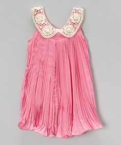 Look what I found on #zulily! Blush Pink Pleated Yoke Dress - Infant, Toddler & Girls #zulilyfinds