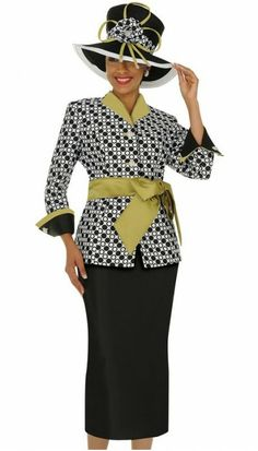 women's church suits and hats   Home > Designer Church Suits > Nubiano N95052 Ladies Church Suits