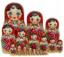 Matryoshka dolls Im going to make some of these one day
