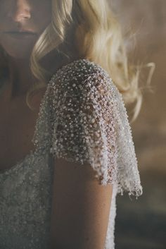 Gorgeous beaded dress | Amanda Garrett via Ivory and Lace
