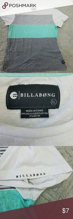 Billabong T-shirt. EUC. Size XL. No trades but I love offers!  If something is priced at $4 I AM FIRM.  I sell every size in my closet so I can't model. But I will gladly answer any questions you have. Save more and bundle! Billabong Shirts Tees - Short Sleeve