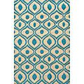 Beautiful!!  Hand Tufted Modern Waves Teal Polyester Rug (8' x 10') | Overstock.com