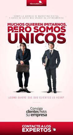 Muchos quieren imitarnos, pero somos únicos #Novoclick Marketing, Movie Posters, Te Quiero, Film Poster, Billboard, Film Posters