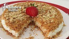 Muhallebili Kadayıf Tatlısı nasıl yapılır? Muhallebili Kadayıf Tatlısı'nin malzemeleri, resimli anlatımı ve yapılışı için tıklayın. Yazar: Mutfak_aşkımm Turkish Kitchen, Tiramisu, Breakfast Recipes, French Toast, Cheesecake, Deserts, Food And Drink, Pudding, Ethnic Recipes