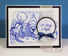 Such a beautiful card. O Holy Night Stamp Set from Power Poppy.
