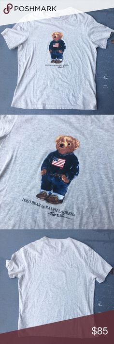 Ralph Lauren Polo bear shirt Ralph Lauren polo bear shirt 2017 shirt  Excellent condition  No stains no damages no holes  Never worn because it's not my size Fits like a large unless you like the slim fit look  Polo sportsman sport sportsmen vintage Polo by Ralph Lauren Shirts Tees - Short Sleeve