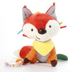 Cute Fox Rattles Plush Stuffed Rattles baby toy Stroller Car Toys Clip Lathe Hanging Seat & Stroller Toys for children Educational Baby Toys, Fox Toys, Cute Fox, Kawaii, Baby Rattle, Baby Animals, Kids Toys, Baby Car Seats, Bandana