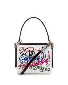 9b6943d509 Miss Viv  Carre Small Graffiti-Print Frame Bag