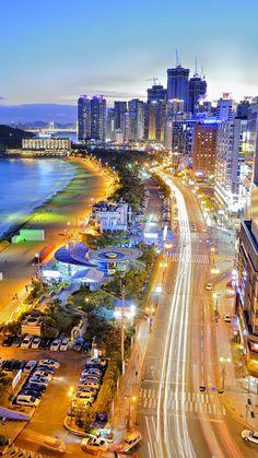 Haeundae Beach, South Korea http://666travel.com/top-tourist-attractions/top-tourist-attractions-in-south-korea/