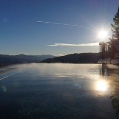 Infinity Pool, Sauna, Celestial, Sunset, Outdoor, Open Fireplace, Forest House, Luxury, Nature