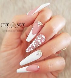 Wedding nails for bride classy coffin ideas nails wedding the most stunning wedding nail art designs for a real wow Natural Wedding Nails, Simple Wedding Nails, Wedding Nails For Bride, Bride Nails, Wedding Nails Design, Wedding Hair, Nail Wedding, Mauve Wedding, Maroon Wedding
