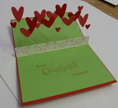 Valentine card. Could switch out hearts for any occasion.