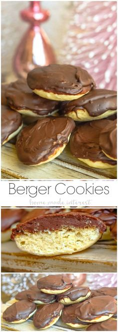 Berger cookies are a symbol of Maryland and if you haven't had one you need to try them! This delicious copycat Berger cookie recipe is a soft, cake-like cookie topped with a mound of rich fudge frosting. These Berger cookies make a great Christmas cookie recipe with a glass of milk. Santa will be so happy to see them! 50StatesofCookies | AD