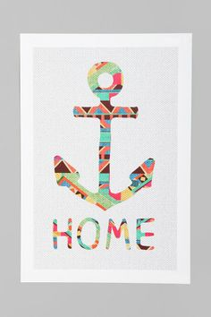 Bianca Green You Make Me Home Art Print would love this for the living room :)