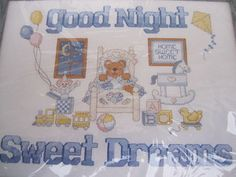 See Sally Sew-Patterns For Less - Good Night Sweet Dreams Creative Circle Cross Stitch Needlework Kit