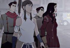 The New Team Avatar | Korra | Mako | Bolin | Asami | Legend of Korra | Avatar