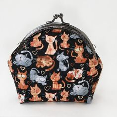 Cat purse  Black cats coin purse  Cat lovers gift  от Anilachan