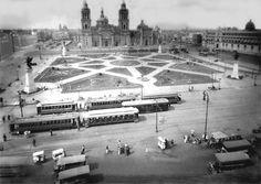 Zócalo de la Ciudad de México en 1925