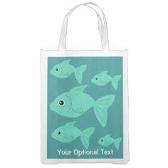 Cute Fish custom reusable bag