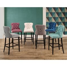 Abbyson Versailles 30-inch Tufted Velvet Barstool | Overstock.com Shopping - The Best Deals on Bar Stools