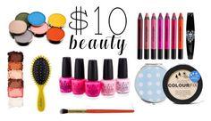 """$ 10 Beauty"" by olgashashuro ❤ liked on Polyvore featuring Urban Decay, NYX, OPI, Miss Selfridge, Boohoo, Morphe, Drybar and 10dollarbeauty"