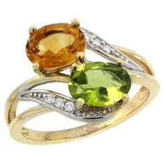 21 alternative engagement rings perfect for proposing to your offbeat beloved (cough cough cough)  This Citrine and Peridot one is probably my favourite out of this list though.