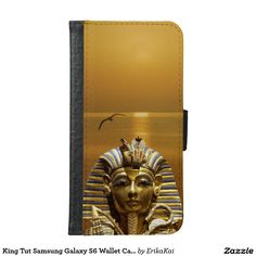 Egypt King Tut Wallet Case for Samsung Galaxy S4, S5 or S6
