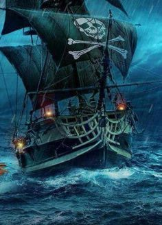 imagenes de barcos piratas animados