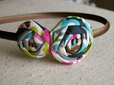 Sweet Whimsy fabric flower headband hair by HappyLittleLovelies, $8.00