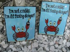 Original EOD baby nursery art I'm not Crabby by CreationsbyGena
