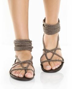 Braided rope sandals... Very cool! Where do I find these!?!