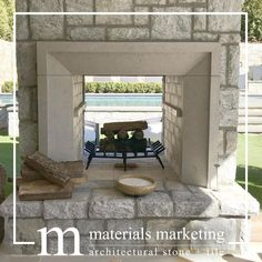 The Maison Fireplace Collection features three different fireplace models. It is available in three Travertine colors, in a honed finish. These are in-stock and ready to ship. Have a different vision? No problem, send us your inspiration picture and we can create your vision from over 40 stone options or modify one of our existing models. Please visit our website for details or contact info@materials-marketing.com Limestone Fireplace, Fireplace Mantle, Fireplace Surrounds, Limestone Block, Fireplace Ideas, Custom Fireplace, Modern Fireplace, Residential Architecture, Interior Architecture