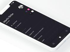 Muzli Mobile App - Edit Feed & Settings