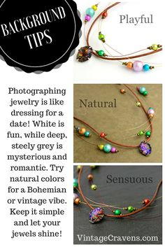Looking for more tips on selecting backgrounds and props for jewelry and other small goodies? Check out my blog post...