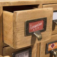 Casier 16 tiroirs en bois H 35 cm ST MAXIMIN