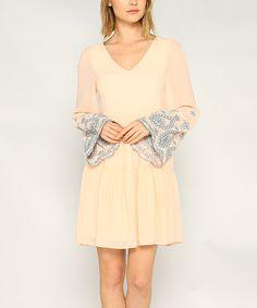 Another great find on #zulily! Peach & Blue A-Line Dress #zulilyfinds
