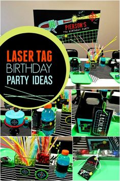 A Boy's Laser Tag Birthday Party - Spaceships and Laser Beams