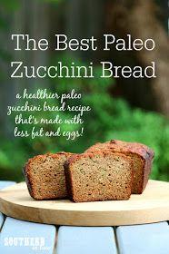 The Best Healthier Paleo Zucchini Bread Recipe - low fat, gluten free, low sugar, refined sugar free, low carb, dairy free, grain free, paleo