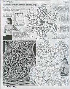 crochet bruges flower diagram