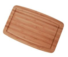 Wood cutting board with juice drip groove 18 x 24 inches wood