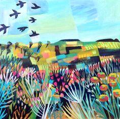 'Free as a bird' acrylic on canvas 59x50cm Este Macleod